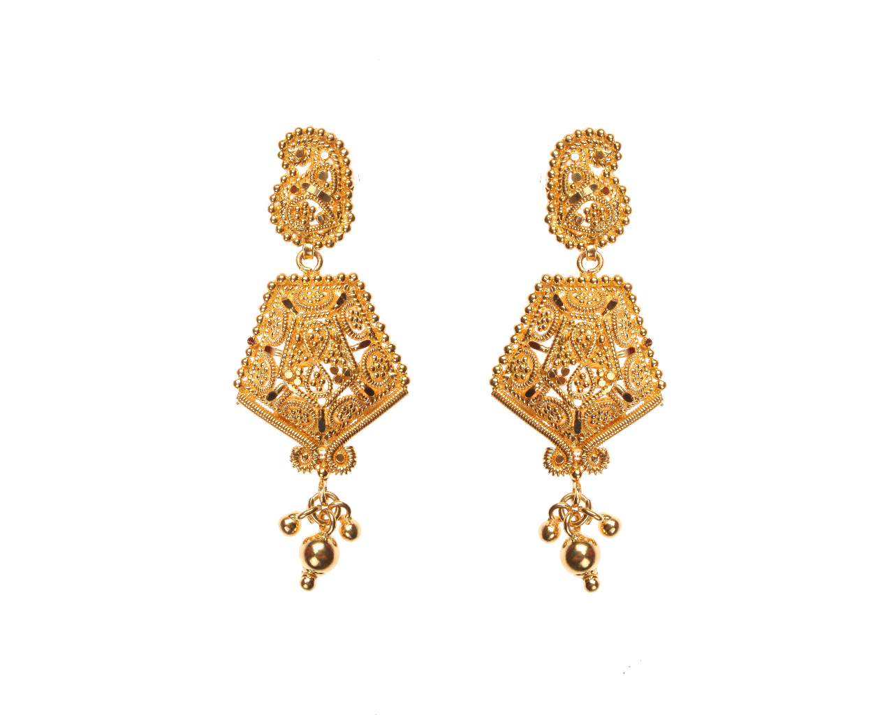buy south jewellery lalithaa designs indian collections gold earrings