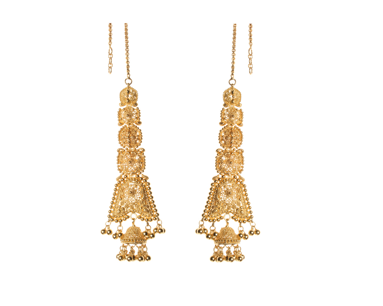 in gold accents drop earrings rubies small side yellow peacock w precious gm products jhumki